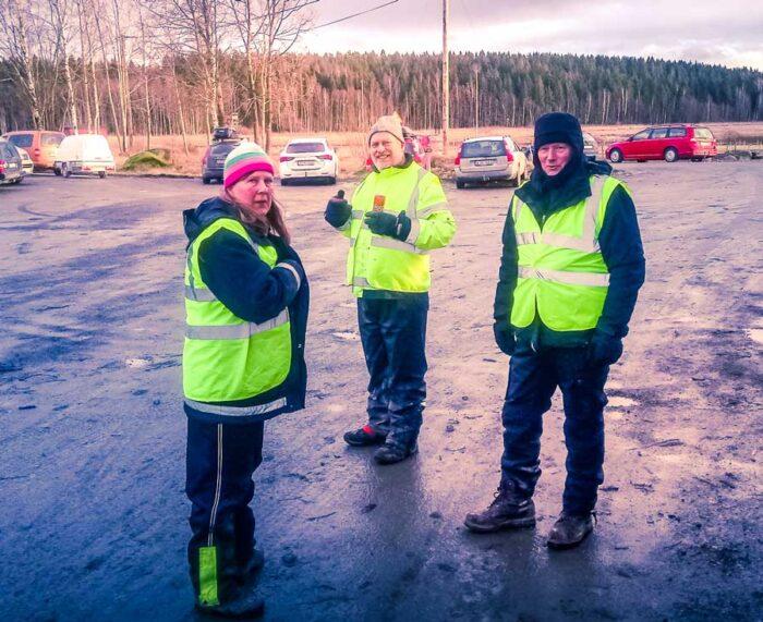Kristina, Mats och Ingvar var några alla duktiga funktionärer som gjorde utmärkta insatser.
